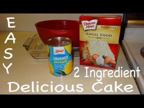 Easy! 2 Ingredient Pineapple Cake