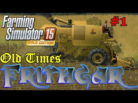 Let's Play FS15 Old Times #1: Canola Harvesting