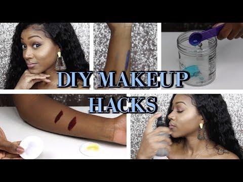 EASY DIY MAKEUP HACKS | SETTING SPRAY, BRUSH CLEANER, & MAKEUP REMOVER,
