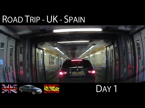 Road Trip UK to Spain - Day 1 (Via Paris) Time Lapse