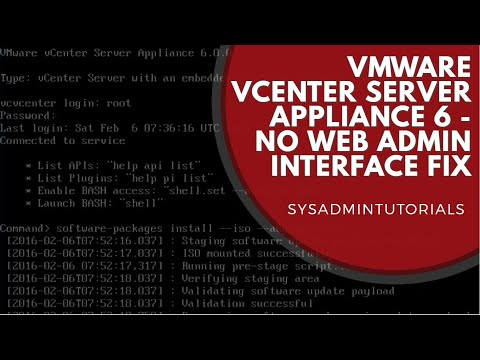 VMware vCenter 6 Appliance Web Admin Interface