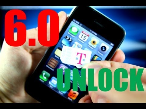 How To Unlock iPhone 3Gs 6.0 for T-mobile & Fix No Service Error - 5.16.07 Redsn0w 0.9.15b3