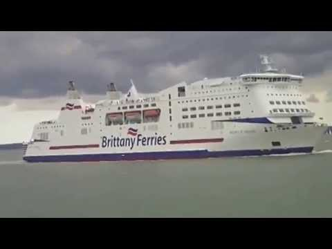 Giles Filming - Cross Channel Ferry entering Portsmouth