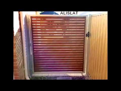 ALISLAT WOOD LOOK ALUMINIUM SLAT GATES PERTH W.A
