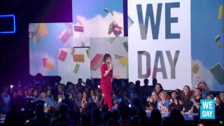 Selena Gomez speaks at We Day California
