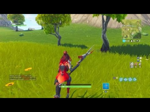Search Between A Scarecrow, Pink Hotrod, And A Big Screen LOCATION!! (Fortnite week 2 challenge)