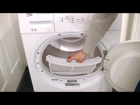 Beko DCU8230 Condenser Sensor Tumble Dryer Review & Demonstration