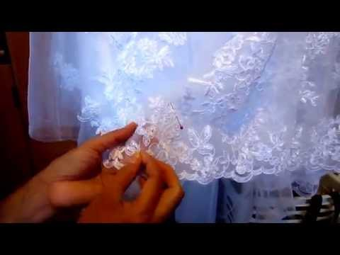 Hemming A Wedding Gown With Applique