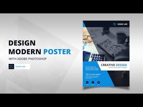Design Modern Poster with Adobe Photoshop