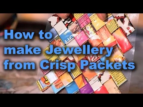 Make Funky Jewellery from Crisp packets - Totally Rubbish - CBBC