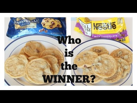 Chocolate Chip Cookies   What brand (Ghirardelli or Nestle Toll House) makes the best cookie?