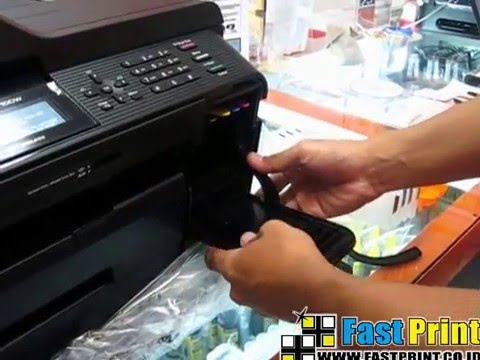 How to install the cartridge CISS refill type LC12 for printer BROTHER MFC J6710DW