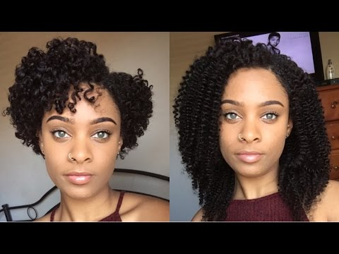Her Given Hair | How to Prep & Install Curly Clip Ins on my Short Natural Hair (TWA)