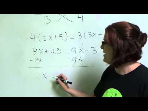 Algebra Tutorial 5 Equations