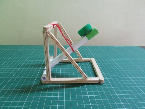 How to Make a Catapult with Pop Sticks - Easy Tutorials