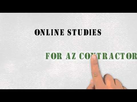 Online Studies for AZ Contractors