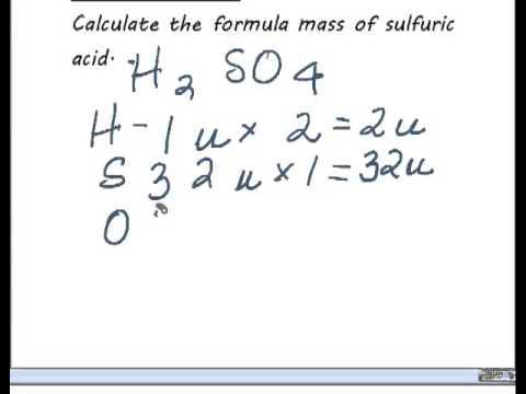 formula mass calculation