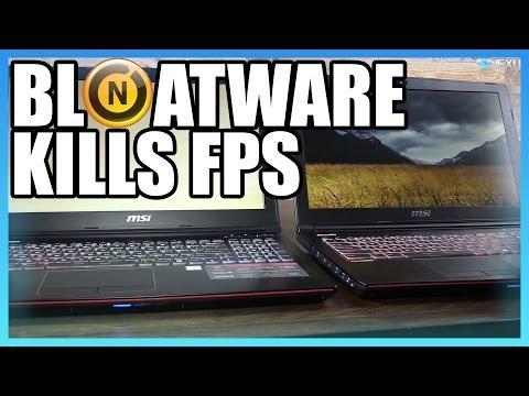 FPS Impact from Laptop Bloatware, Ft. Norton & 1060