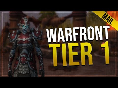 Warfront Tier 1 Mail Armor & Weapons   All Horde Male & Female Races   In-game Preview!