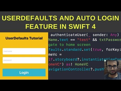 USerDefaults and auto login feature in swift 4