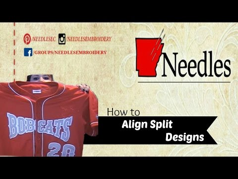 How to Align Split Designs | Needles Embroidery