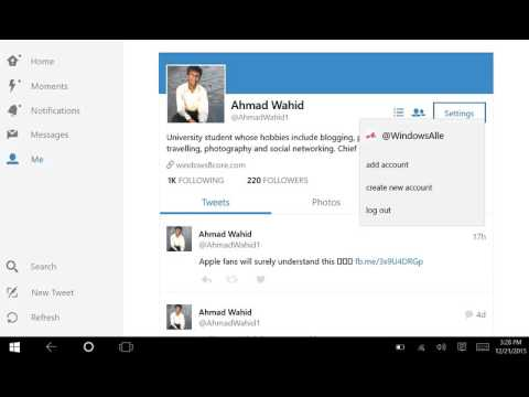 Twitter app for Windows 10: How to log out your account