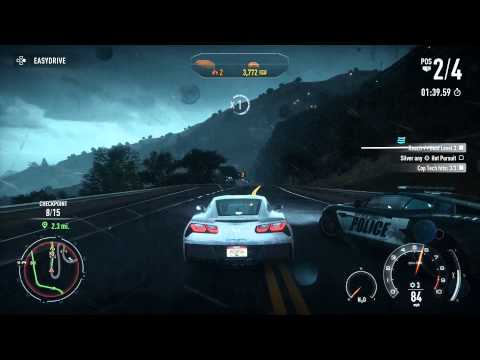 Need for Speed: Rivals - Chap 3 (Racer) Silver a Hot Pursuit Race, Corvette Stingray HD Gameplay