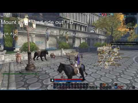 Earning the Black Panther mount in Tera Rising.