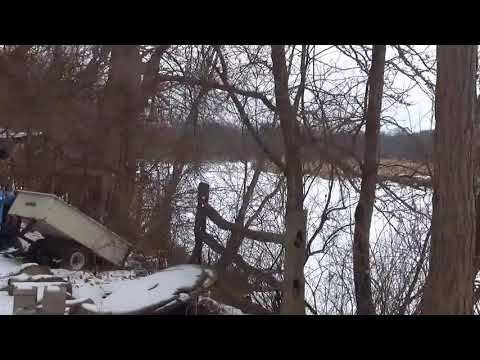 Snowmobiles on the river