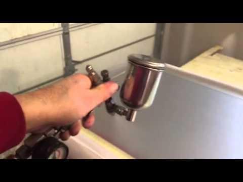 Automotive Paint On Wood Dresser - Part 3 Silver Metallic...
