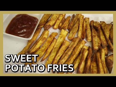 Baked Sweet Potato Fries | Oven Baked Sweet Potato Fries | Airfryer Recipes by Healthy Kadai