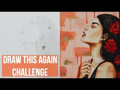 DRAW THIS AGAIN CHALLENGE | Amaya Jade