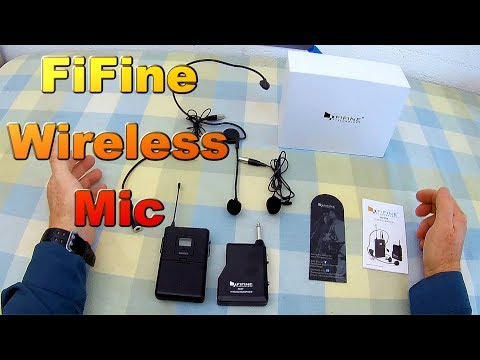 🎤 REVIEW: Fifine Long Range Wireless UHF Microphone System.  Live Testing and Comparison