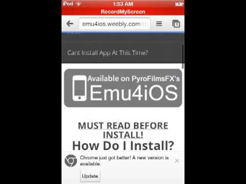 How to download gba emulator for ipod touch,iphone (no jailbreak)