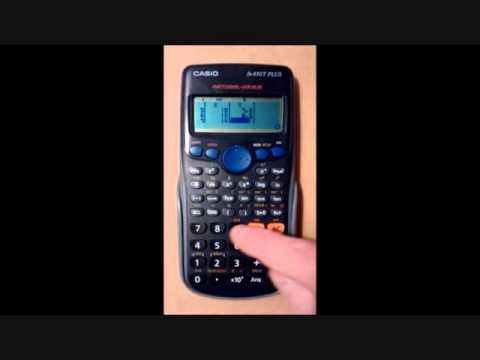 Find the regression equation using a Casio calculator