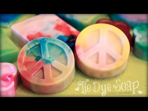 DIY TIE DYE SOAP | Soap Making For Beginners | SoCraftastic