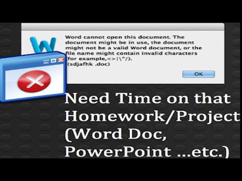 How to Create a Document in Word that Doesn't Open Tutorial[Great Life Hack][Glitch][Mac][Windows]