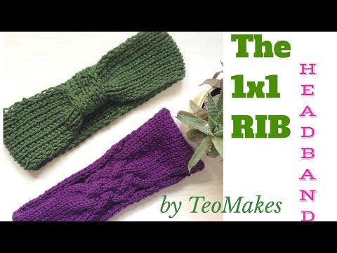 How to knit a headband - 1x1 rib | TeoMakes