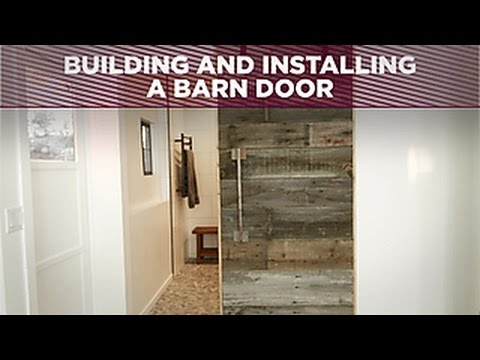 How To Build and Install a Barn Door - DIY Network