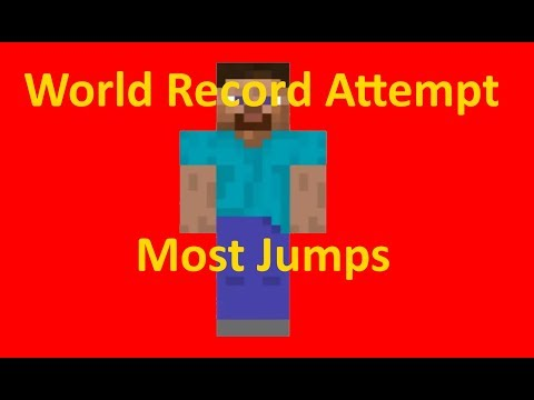 Most Jumps In Minecraft!! World Record Attempt!!