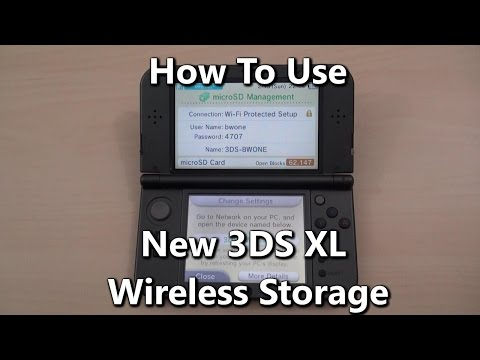 How To Use Wireless Storage On The New Nintendo 3DS XL
