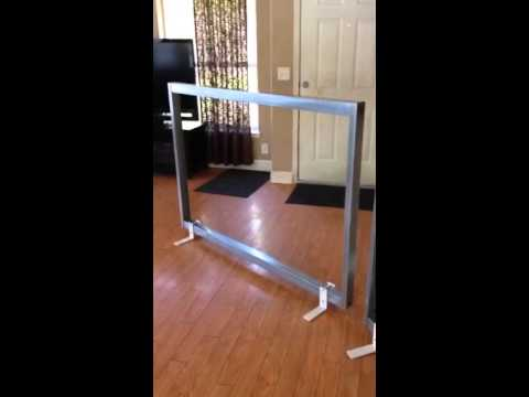 Make your own target stand from a headboard frame
