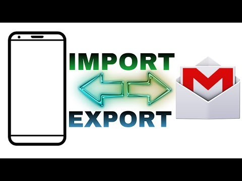 How to import/export contacts from mobile to Gmail account| hindi