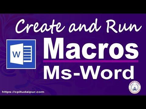 Microsoft Word Macro (Hindi) | Learn Microsoft Word