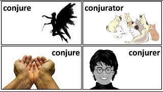 19.3 conjure conjury conjurer conjuror conjuration conjurator meaning in Hindi by Puneet Biseria