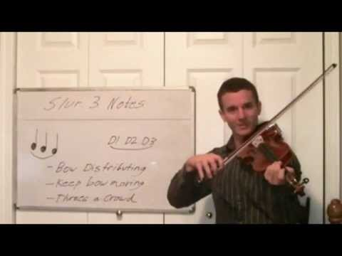 Violin Technique Lessons- Slur Three Notes Correctly With the Violin Bow