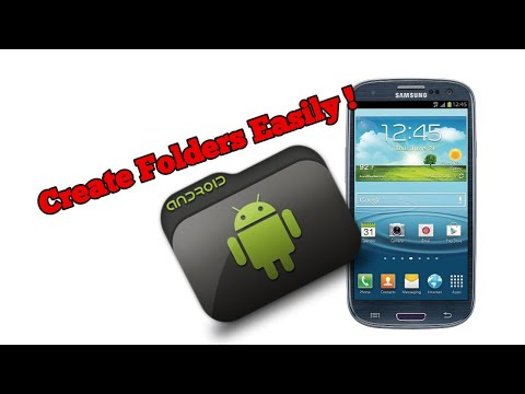 How to create folders on Samsung Galaxy S3 (Android); in home screens and applications menu