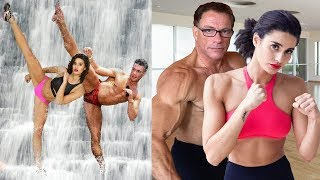 Jean Claude Van Damme Trained Daughter and Son in Martial Arts