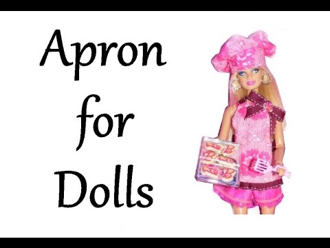 How to make an Apron for Dolls Tutorial DIY