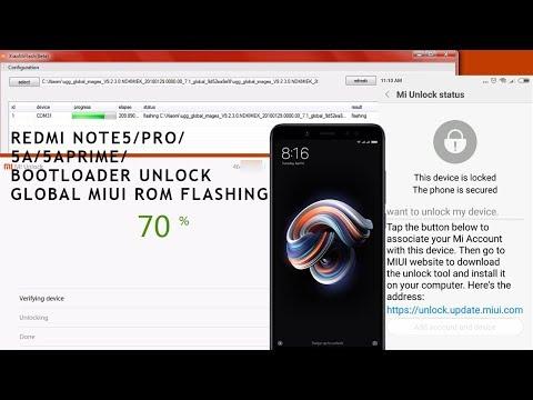 Redmi Note5/5A/5APRIME/5Pro   Unlock Bootloader   Flashing